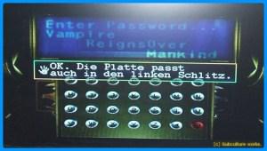 [Subculture works.] Vampire Hunter D 3F Kontrollraum  Passwort Goldplatte
