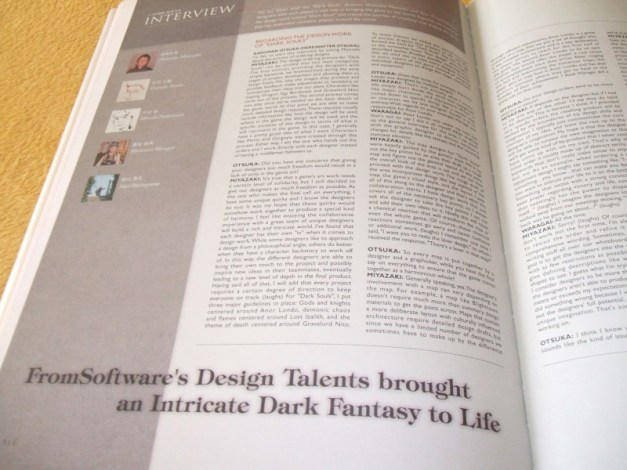 [Subculture works.] Dark Souls Design Works Interview