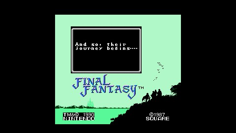 [Subculture works.] Final Fantasy NES Titellogo