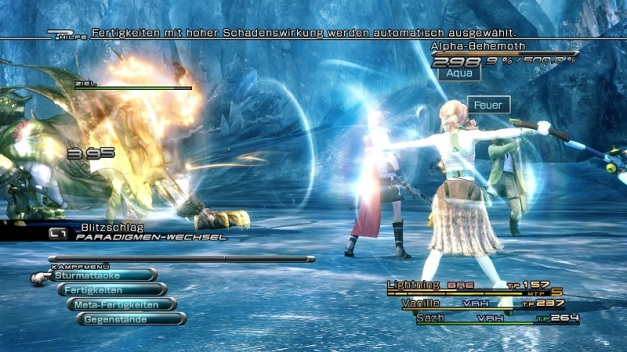 Final Fantasy XIII Blitzschlag Paradigma
