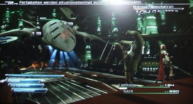 Final Fantasy XIII Manasvin Mechatron Tutorial Kampf